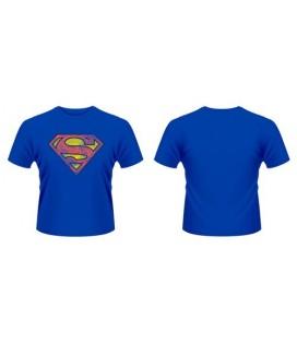 CAMISETA SUPERMAN AZUL LOGO GASTADO M