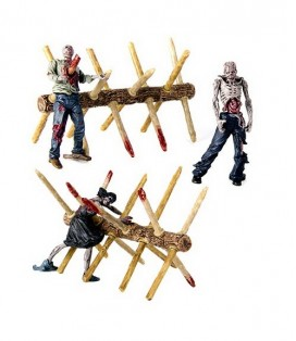 FIGURA WALKING DEAD CONSTRUCCION BARRERA CAMINANTE