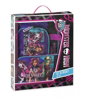 MONSTER HIGH SCARIS - SET REGALO BXT + ZAPATILLERO