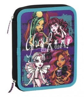 MONSTER HIGH SCARIS - PLUMIER DOBLE GRANDE 56 PIEZAS