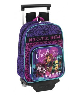 MONSTER HIGH SCARIS - MOCHILA INFANTIL CON RUEDAS