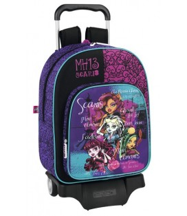 MONSTER HIGH SCARIS - MOCHILA GRANDE CON RUEDAS