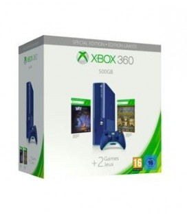 CON 360 500GB AZUL +MAX:THE CURSE OF BROTHERHOOD +TOY SOLDIERS DESCARGABLES