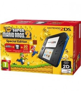CON 2DS NEGRA/AZUL + NEW SUPER MARIO BROS 2