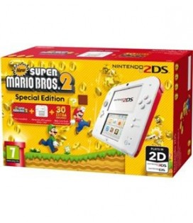 CON 2DS BLANCO/ROJO + NEW SUPER MARIO BROS.2 (PREINSTALADO)