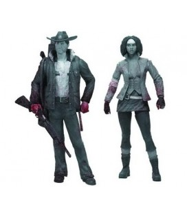 FIGURA PACK WALKING DEAD MICHONNE AND RICK 12 cm