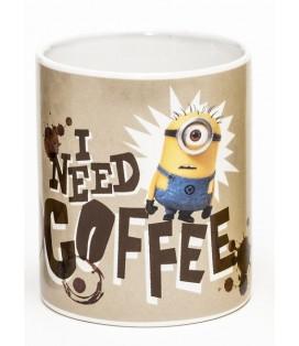 TAZA MINIONS I NEED A COFFEE