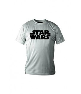 CAMISETA BLANCA CHICO XL STAR WARS LOGO NEGRO