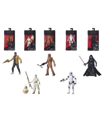 CAJA FIGURAS STAR WARS BLACK SERIES EPISODIO VII (6)