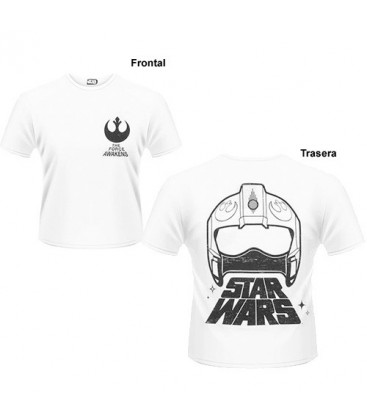 CAMISETA STAR WARS EPISODIO 7 CASCO REBELDE M