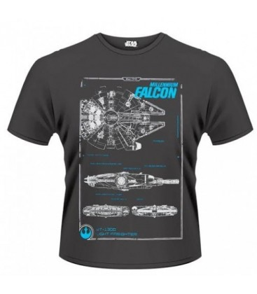 CAMISETA STAR WARS EPISODIO 7 HALCON MILENARIO XL