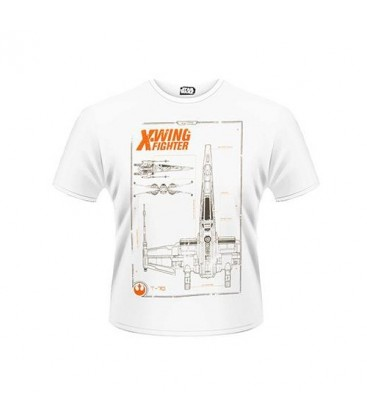 CAMISETA STAR WARS EPISODIO 7 PLANOS X-WING XL